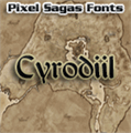 Illustration of font Cyrodiil