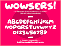 Illustration of font Wowsers