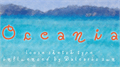 Illustration of font Oceania