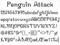 Illustration of font Penguin Attack
