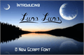 Illustration of font Luna Luna