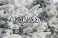 Illustration of font Christmas Script