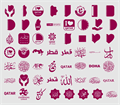 Illustration of font Font Color Qatar
