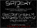 Illustration of font Spidery