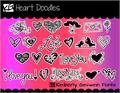Illustration of font KG Heart Doodles