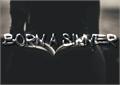Illustration of font Born a Sinner