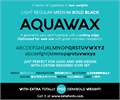 Illustration of font Aquawax