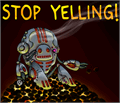 Illustration of font Stop Yelling