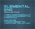 Illustration of font ElementalEnd