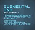 Illustration of font ElementalEnd