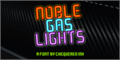 Illustration of font Noble Gas lights