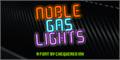 Illustration of font Noble Gas lights