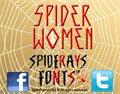 Illustration of font SPIDER-WOMEN