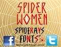 Illustration of font SPIDER-WOMEN