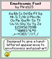 Illustration of font Emoticomic