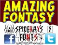 Illustration of font AMAZING FONTASY