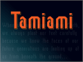Illustration of font tamiami