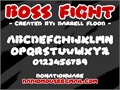 Illustration of font Boss Fight
