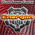 Illustration of font Energon