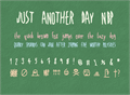 Illustration of font JustAnotherDayNBP