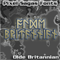 Illustration of font Olde Britannian