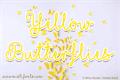 Illustration of font Mf Yellow Butterflies