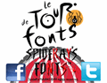 Illustration of font Le Tour de Fonts