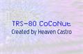 Illustration of font TRS-80 CoCoNut