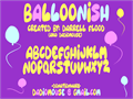 Illustration of font Balloonish