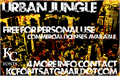Illustration of font Urban Jungle