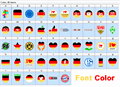 Illustration of font Font Color Germany