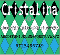 Illustration of font Cristalina