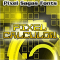 Illustration of font Pixel Calculon