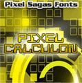 Illustration of font Pixel Calculon