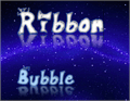 Illustration of font Ribbonbubble