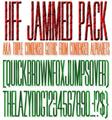 Illustration of font HFF Jammed Pack