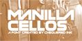 Illustration of font Manilla Cellos