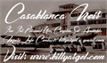 Illustration of font Casablanca Noir Personal Use
