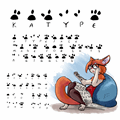 Illustration of font katype_scribe