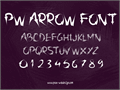 Illustration of font PW Arrow font