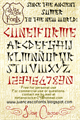Illustration of font Cuneiforme