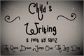 Illustration of font child writing