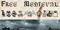 Illustration of font Free Medieval