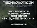 Illustration of font Technonomicon