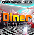 Illustration of font Diner