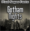 Illustration of font Gotham Nights