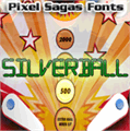 Illustration of font Silverball