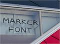 Illustration of font Marker Font