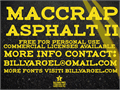 Illustration of font maccrap asphalt II PERSONAL USE