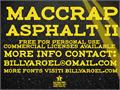 Illustration of font maccrap asphalt II PERSONAL USE